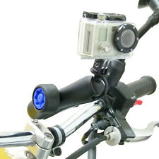 Motorcycle M* Handlebar Clamp & Long Security Pin-Lock Arm for GoPro Hero Camera