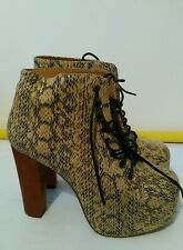 Jeffrey Campbell crocodile wedge Platform Boots Heels UK 6.5  euro 40