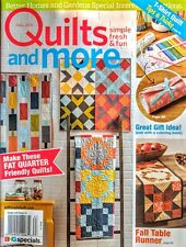 BH&G QUILTS and MORE Fall 2016 Magazine / Patterns for Fat Quarter Quilts + more