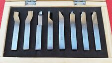 8pc HSS Lathe Turning Tool Set  Form Tools 10mm Shank Metal Turning Boxford CNC