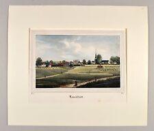 Bad Lauchstädt 1837 ORIGINAL Lithografie Saxonia koloriert Sachsen alte Ansicht