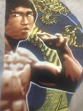 Bruce lee graffiti portrait Hot toys detolf background display cloth