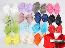 10Pcs Big Bowknot Boutique Girls Baby Hair Bows With Alligator Clips Grosgrain