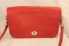 Vintage Coach Red Crossbody Messenger Purse - Super CLEAN - Turn Lock Flap