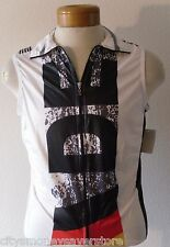 NWT K-Swiss Mens Germany Sleeveless Cycling Triathlon Windvest XS White MSRP$75