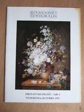 CATALOGUE VENTE ENCHERES 1995 DUMOUSSET DEBURAUX ESTAMPES BRONZE ART DECO TAPIS