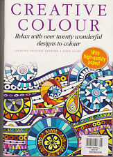 CREATIVE COLOUR MAGAZINE #8, RELAX WITH OVER TWENTY WONDERFUL DESIGN TO COLOUR.