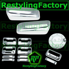 09-14 F150 Chrome HALF Mirror+4 Door Handle+keypad+no PSG KH+Tailgate+GAS Cover
