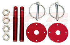 Red Hood Pin Kit Flip-Over Style for Ford, Chevy, Mopar, Any Car FREE SHIPPING
