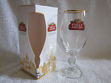 NEW BOXED STELLA ARTOIS CHRISTMAS PACKAGED CHALICE GLASS 33CL STAR INSIDE GLASS