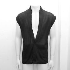 NEW Mens Dior Homme Black Sleeveless Casual Shirt Vest GENUINE RRP: £340 Size: M
