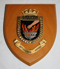 WALL PLAQUE H.M.S. DARING HMS GIEVES BRITISH NAVY LONDON UNITED KINGDON SHIELD