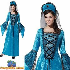 FAIRYTALE ROYAL PRINCESS PANTO UK 10-14 Womens Ladies Fancy Dress Costume