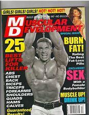 MUSCULAR DEVELOPMENT Bodybuilding Mag /Paul Demayo/Brandy Dahl w/poster 12-01