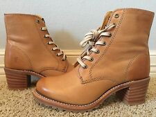 New FRYE Women's Sabrina Lace Up Tan Combat Leather Boots Sz 8 $358