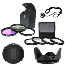 58mm Close up Lens Set + Filter Kit + Tulip Lens Hood + Lens Cap + Cap Keeper