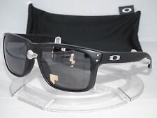 CUSTOM OAKLEY POLARIZED HOLBROOK SUNGLASSES OO9102 Matte Black / Grey Polar