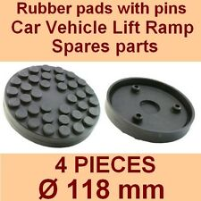 SET OF 4 PADS Ravaglioli 2 Post Car Lift Ramp Rubber Pads +3 pins - 118mm -Italy