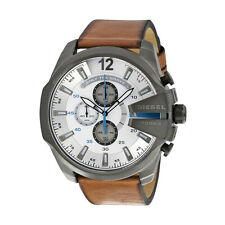 Diesel DZ4280 Mega Chief Men's Chronograph Brown Leather Quartz Watch -RRP £ 219