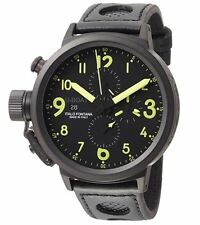 U-BOAT Men's 1086 Flightdeck 50mm Automatic Chronograph Black PVD Steel Watch
