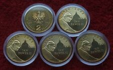 POLAND SET OF COINS 2 ZL POPE JOHN PAUL 2005 YEAR LOT ONE PIECE 1 PC CAPSULE