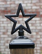 Cast Iron star post cap for 4x4 wood post, Wrought Iron fence, Mailbox post cap