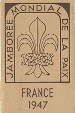 POSTCARD / CARTE POSTALE / JAMBOREE MONDIAL DE LA PAIX FRANCE 1947 + CACHET