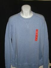 NEW Mossimo Varsity Blue spec Crew Neck100% Cotton Seamed Pull Over Knit Sz. 2XL