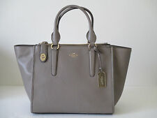 NEW Coach Crosby Carryall Large Satchel Tote Fog Leather Handbag 33545