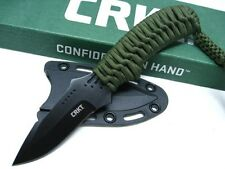 COLUMBIA RIVER CRKT Cord Wrapped THUNDER STRIKE Fixed Neck Knife + Sheath! 2032