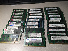 Lot of 29x 2GB DDR2 200-pin Laptop Memory Mix Brands