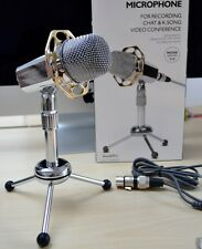 Podcast Studio Foldable Desktop Microphone MIC for Skype MSN PC Mac Laptop