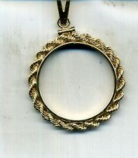 AMERICAN EAGLE 1/2 OUNCE GOLD 14K ROPE BEZEL SCREW TOP