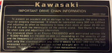 KAWASAKI Z1100R KZ1100R IMPORTANT DRIVE CHAIN CAUTION WARNING DECAL