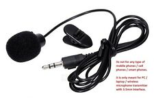 Collar Mini 3.5mm Wireless Microphone Transmitter Hands Free Mic for PC Laptop
