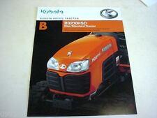 Kubota B3200HSD Diesel Tractor Literature