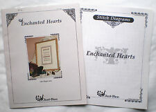 "Just Nan ""Enchanted Hearts"" Counted Cross Stitch Pattern Fabric Bead & Lace Pack"