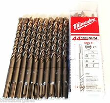 "10 MILWAUKEE 3/8"" X 6"" SDS PLUS CARBIDE TIP MASONRY HAMMER DRILL BIT 48-20-7551"
