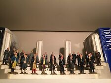 Complete Marx Presidential Figurine Set & Column Display Stand