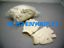 50 Pair Cotton / Poly Loop-In Terry Industrial Work Auto Paint Gloves Sz SMALL