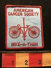 Vtg Bicycle Sports Patch American Cancer Society Bike-a-thon (Blue Version) 68WO