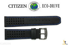 Citizen Eco-Drive CA0467-03E 23mm Black Leather Watch Band w/ Blue Stitching
