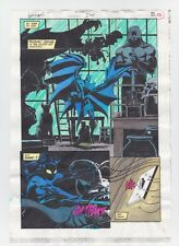 BATMAN #504 PAGE 13 ORIGINAL COMIC PRODUCTION ART COLOR GUIDE CODE FREE CATWOMAN