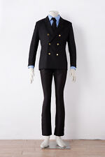 One Piece Sanji black Uniform suit cosplay costume