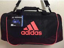 New ADIDAS Defense Medium Duffel Unisex Gym bag luggage Black Infra Red