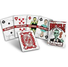 Bicycle Zombie Playing Cards Tips for Surviving NEW SEALED BOX Halloween Monster