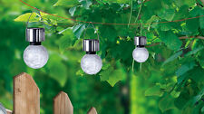 4 X Solar Crackle Glass Ball Light Garden Landscape Lantern Light Color Changing