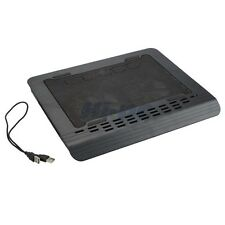 "10""-16"" Laptop Notebook 2 Fan LED Cooling Cooler Pad Stand Black with USB Cable"