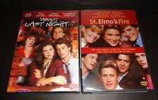 ABOUT LAST NIGHT & ST ELMO'S FIRE-2 DVDs-ROB LOWE, DEMI MOORE, ANDIE MACDOWELL