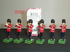 BRITAINS 8330 6 COLDSTREAM GUARDS BAND TRUMPET PLAYERS TOY SOLDIERS + TRADE BOX